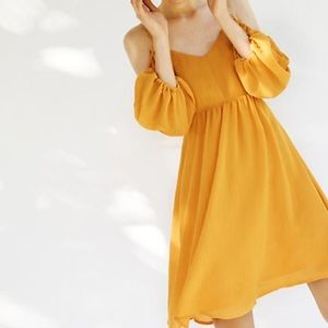 Anthropologie Moulinette Soeurs orange dress